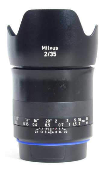Lente Zeiss Milvus 35mm 51583508 Para Canon Impecável