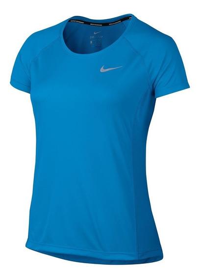 Camiseta Nike Manga Curta Dry Miler Top Feminino Tênis Preto