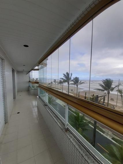 Apto Em Frente Ao Mar Mobiliado 3dorm/1suíte Vila Caiçara Pg
