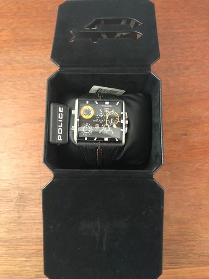 Relogio Pulso Police Twingear TriPod Tri-time Watch Pl13497j
