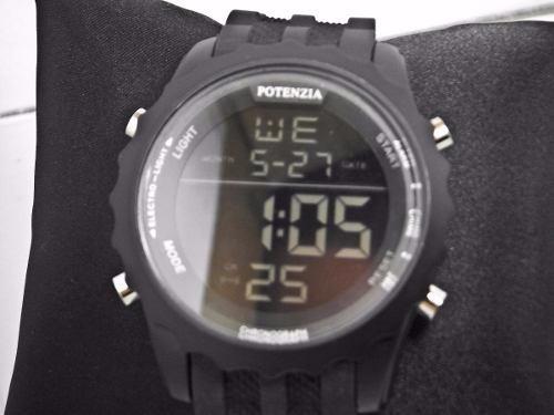 Relógio Potenzia Black,prova Dágua,super Promoção