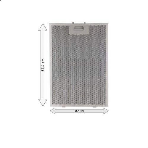 Imagem 1 de 8 de Grade Filtro Alumínio Coifa Electrolux 60cvs 90cit 90cvs 1pç