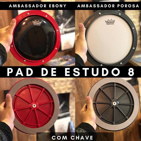 Pad De Estudo 8 Pol Pele Ambassador Ebony/porosa C/ Chave
