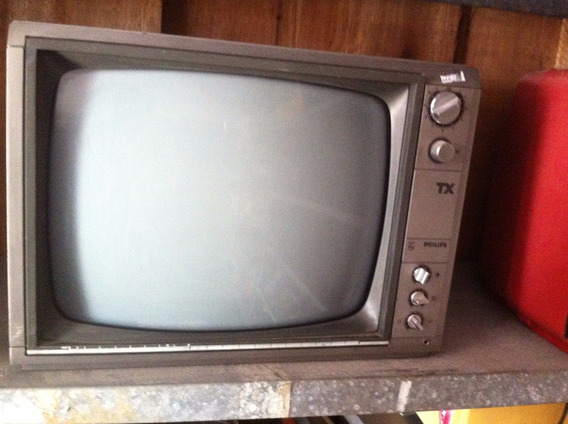Tv Televisão Philips Tx Antiga Cinza Anos 90