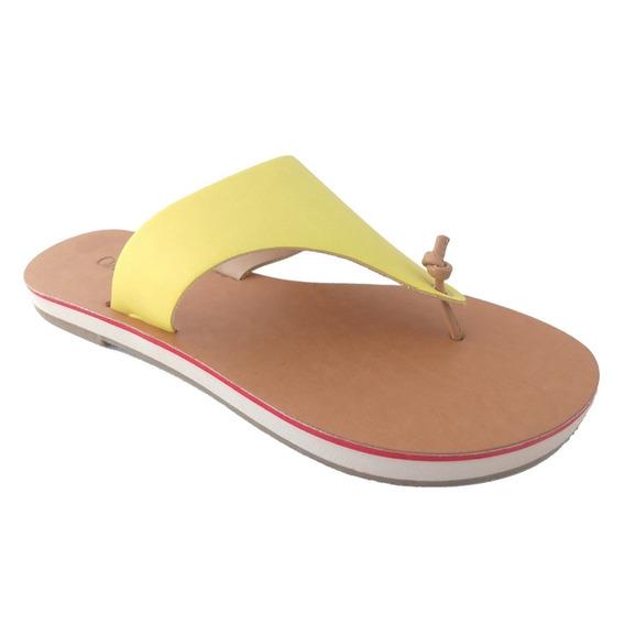 Rasteira Sapatoweb Couro Amarelo - W013ama