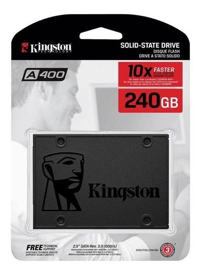 Ssd De 240gb Kingston De 500mb/s De Leitura - Cinza
