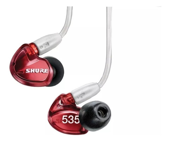Fone Profissinoal In Ear Se535 - Red 3 Meses De Garantia