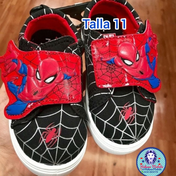 Zapatos Deportivos Spiderman Niños Marvel Original