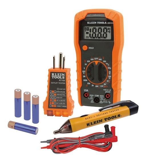 Kit De Prueba Mm300 + Ncvt-1sen+ Rt105 69149 Klein Tools