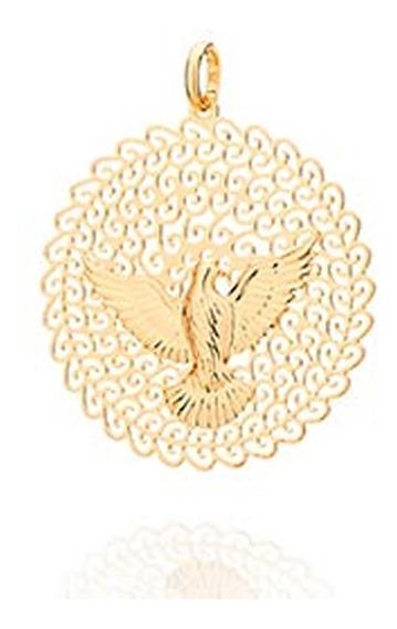 541526 Pingente Medalha Espírito Santo Rommanel Semi-jóia