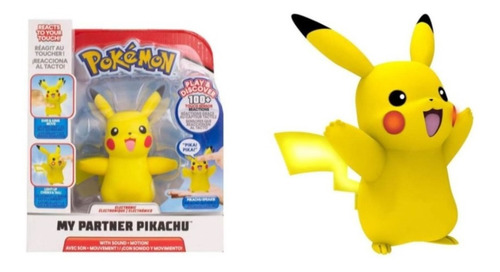 Pikachu Interativo Meu Parceiro Pokémon Som E Luz Wct Sunny