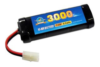Batería Ni-mh Niquel Metal 7.2v 3000mah Auto Rc Radiocontrol