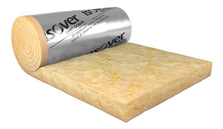 Lana De Vidrio Rolac Plata Aluminio 80mm 1,20x12mts