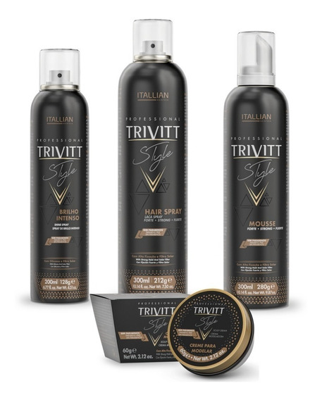 Kit Finalização Penteado Profissional Itallian Trivitt Style