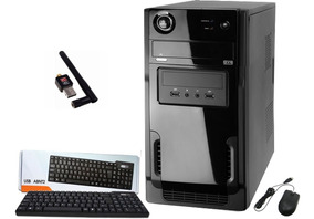 Pc Cpu Intel Core I3 + 4gb Ram + Hd 120gb Ssd +dvdrw + Wi Fi