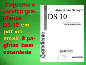 Esquema E Serviço Gradiente Ds10 Ds-10 Em Pdf Via Email