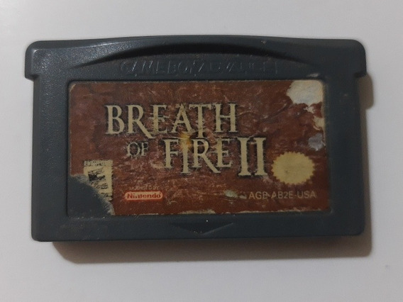 Breath Of Fire 2 Game Boy Advance Original Americano 100% Ok