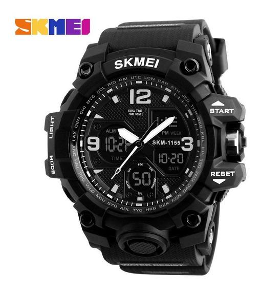 Relógio Skmei 1155b Digital Analogico G -shock Preto