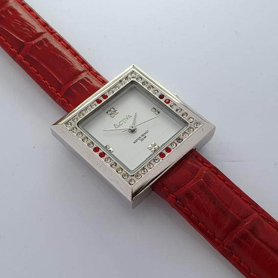Relógio Feminino Activa Cuadro Al605-001 Swiss Movt