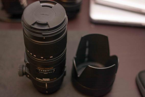 Lente Sigma 70-200mm 1:2.8: Apo Dg Hsm Optical Estabilizer