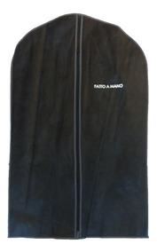 Porta Terno, Roupa, 100% Tnt, C/ziper - Preto - C/5
