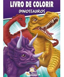 Livro De Colorir Dinossauros 80 Páginas