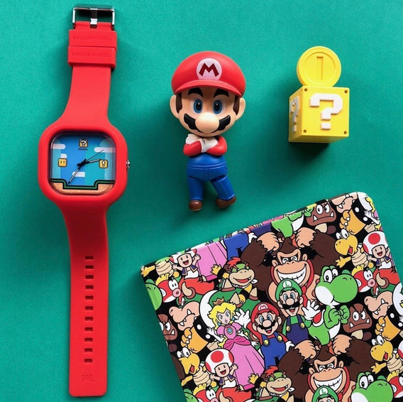 Relógio Adulto Infantil Mario Bross Pulseira Silicone