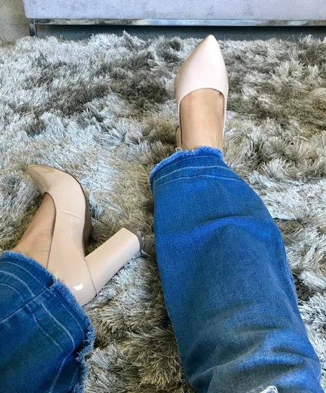 Sapato Scarpin Salto Grosso Alto