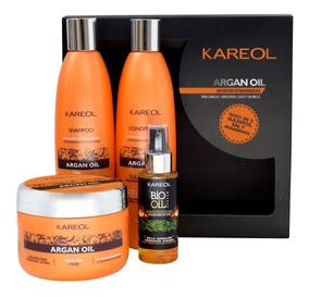 Pack Kareol Argan Oil Shamp+acond+masc 300 + Biooil System