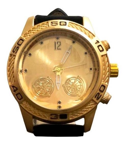 Relógio Masculino Dourado Original Orizom