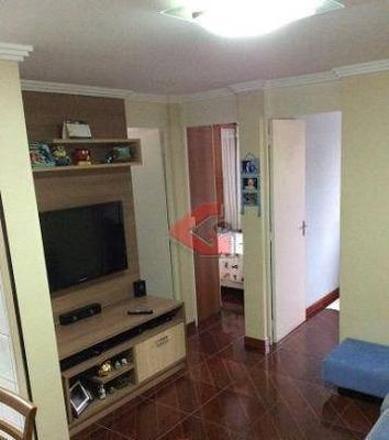 Apartamento Com 2 Dormitórios À Venda, 48 M² Por R$ 210.000 - Demarchi - São Bernardo Do Campo/sp - Ap2727