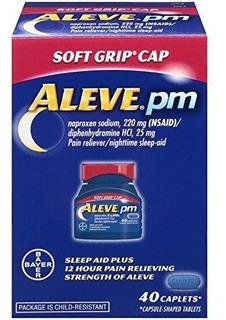 Aleve Pm Soft Grip Tapa 220 Mg Caplets 40 Ea Paquete De De 1