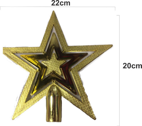 Decoración Adorno Navidad Estrella De Arbol