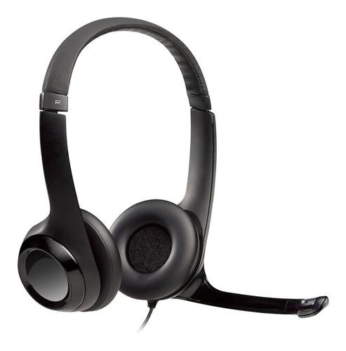 Imagen 1 de 10 de Auricular Vincha Logitech H390 Micrófono Usb Skype Miniplug