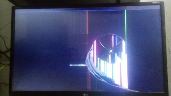 Smart Tv Lg 28 Webos 49s A Tela Está Trincada