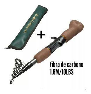 Vara Telescópica Para Carretilha Fibra Carbono 1.6m