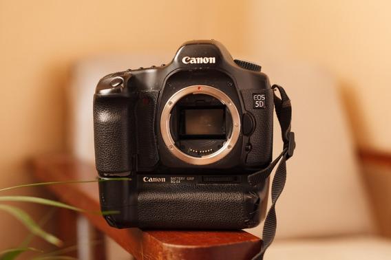 Canon 5d Full Frame Com Grip E 5 Baterias