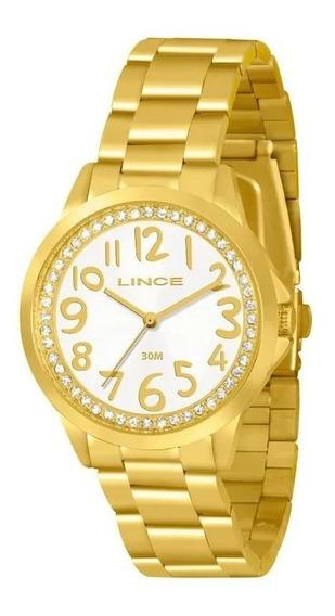 Relógio Lince Feminino Lrgj032l Novo C/ Garantia E Jóias