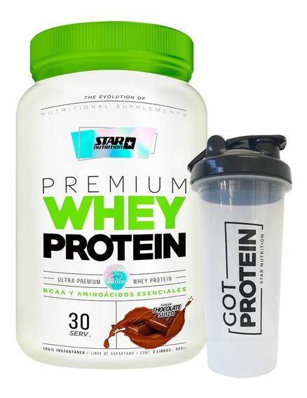 Premium Whey Protein Star Nutrition X 2 Lb + Vaso Mezclador