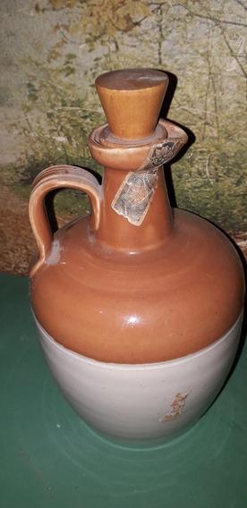 Antiguo Porro Damajuana De Cerámica