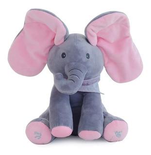 Elefante De Peluche Mueve Orejas Canta Con Música Y Sonidos