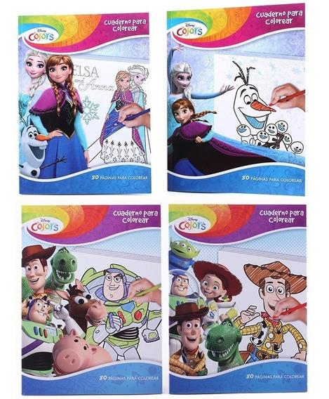 Libro De Colorear 80 Páginas Cars Frozen Mayoreo Bolo Full