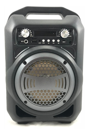 Caixa De Som Bluetooth/ Usb/ Led/ Recarregável C/ Alça - 9w