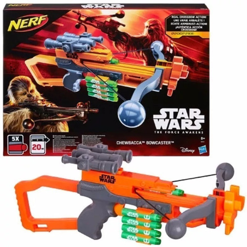 Imagen 1 de 5 de Nerf Star Wars Episodio 7 Chewbacca Bowcaster Blaster Origi