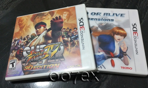 Super Street Fighter 4 + Dead Or Alive Nintendo 3ds
