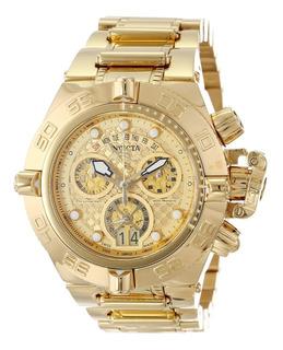 Reloj Dorado Hombre Invicta Subaqua 14497 100% Original 18k