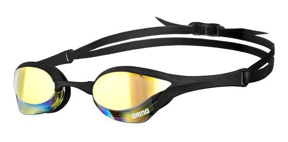 Óculos De Natação Cobra Ultra Mirror Arena / Preto-amarelo