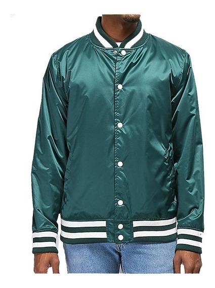 Chamarra Ninth Hall Polished Green Varsity Jacket Escolar Nike adidas Puma Urban Beach