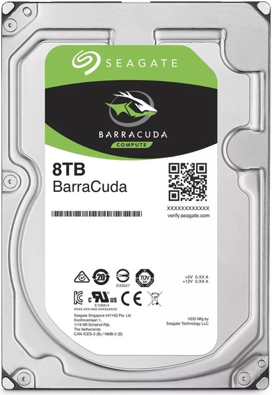 Hd Seagate 8tb Sata3 256mb 5900 Rpm Barracuda Desktop Nfe