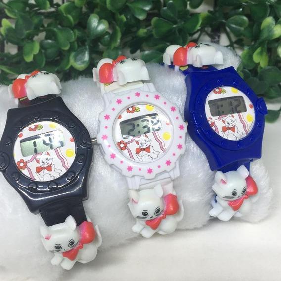 Relógio Infantil Menina Digital Cores Variadas Barato